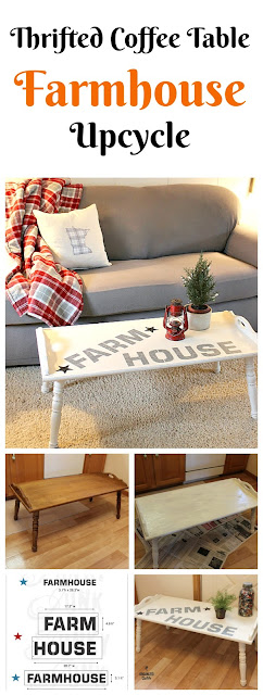 Thrifted Coffee Table Gets A Farmhouse Makeover organizedclutter.net