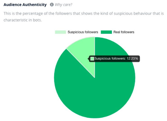 social media influencers authentic followers ratio real following vs spammy bots