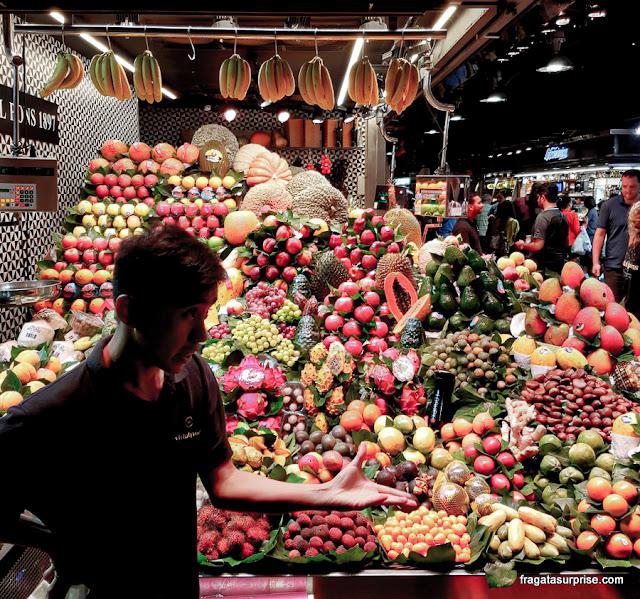 Frutas no Mercado da Boqueria, Barcelona