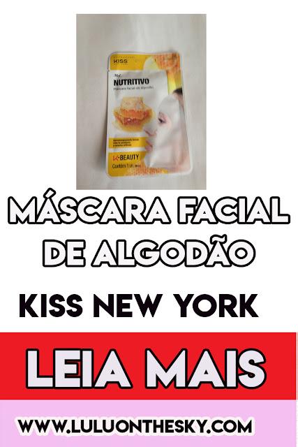 Máscara facial de algodão - Mel - Kiss New York Professional