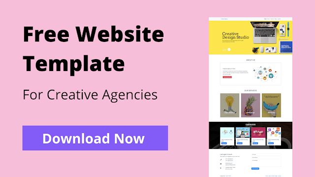 Free Website Template for Creative Agencies