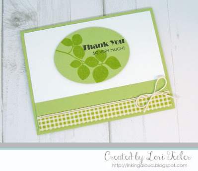 Thank You card-designed by Lori Tecler/Inking Aloud-stamps from Altenew