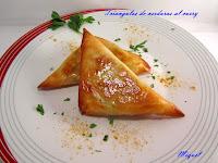 Triángulos de verdura al curry