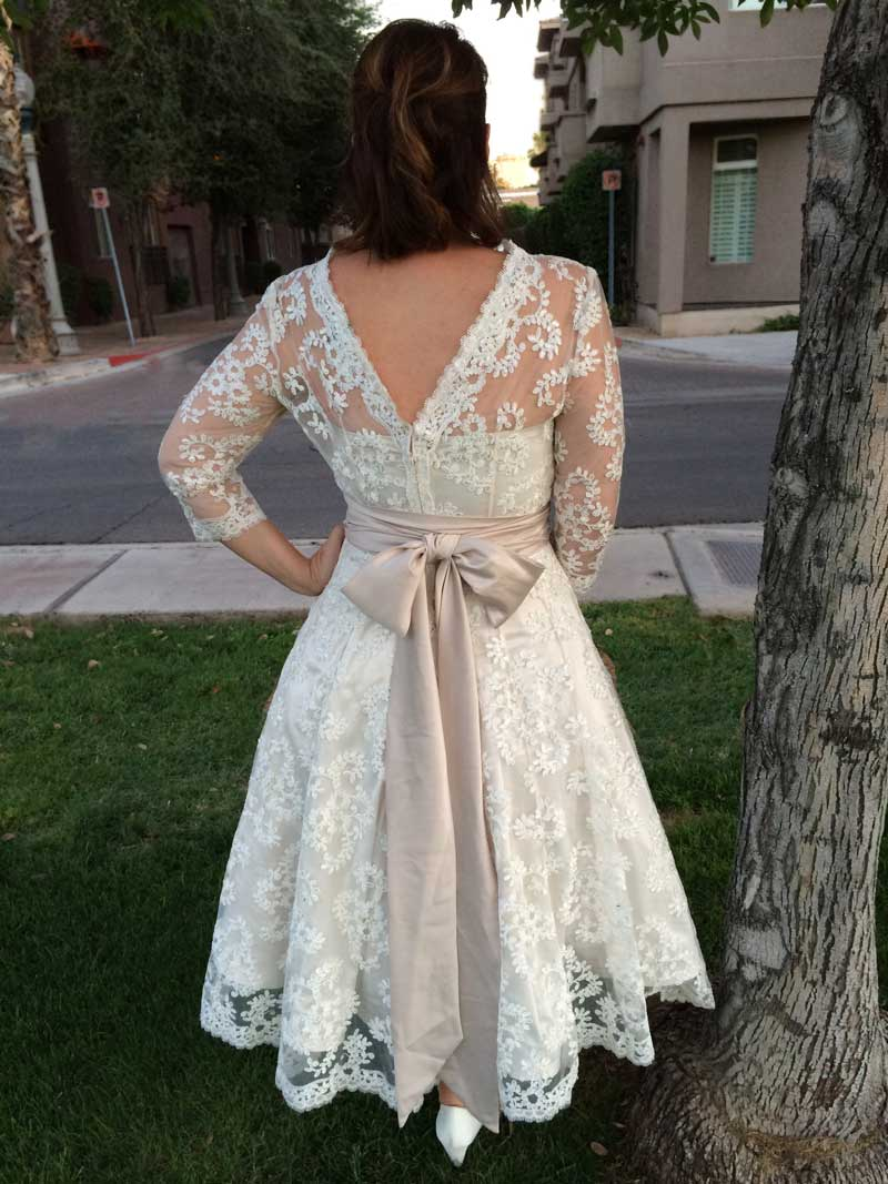The Sewing Lab Wedding Dress Finished