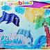 Delfiny gąbką malowane