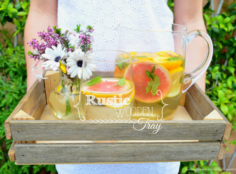 rustic wooden tray desdeesteladodemimundo.blogspot.it