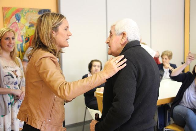 La alcaldesa, en un acto con pensionistas