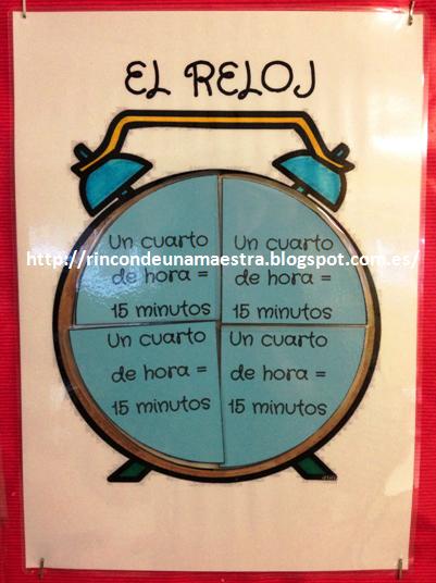 Rinc n de una maestra el reloj for Cuanto es un cuarto de hora