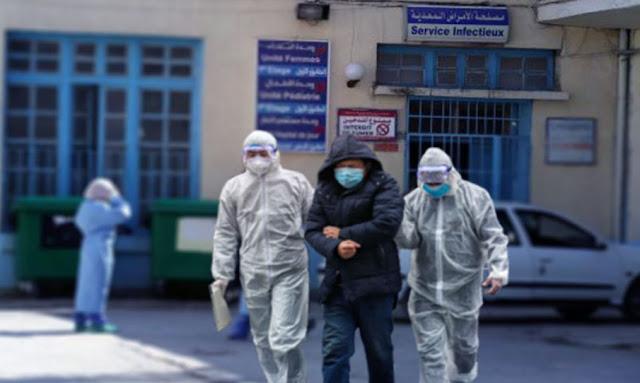 الجزائر مصاب بفيروس كورونا يهرب من المستشفى