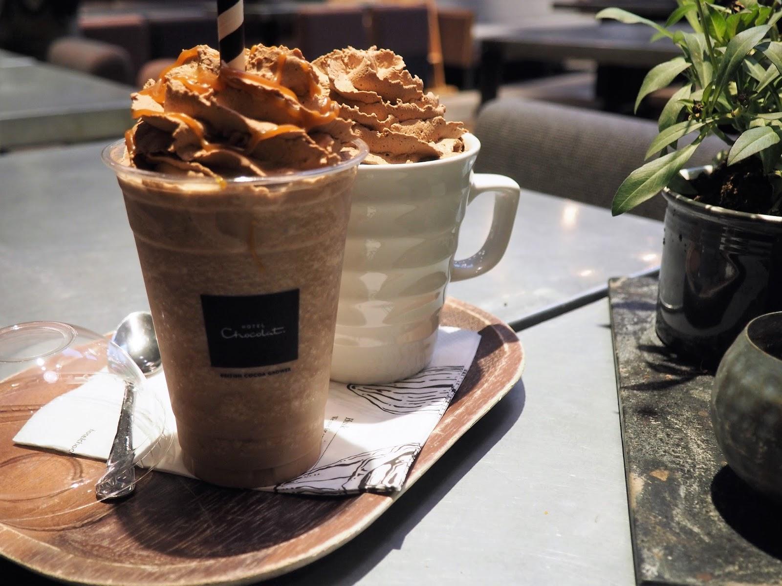 Drink at the Hotel Chocolat Cafe, Copenhagen