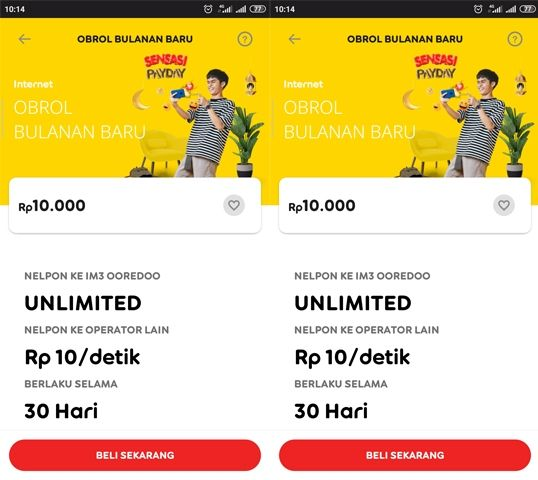 Keterangan Paket Nelpon Indosat Obrol Bulanan 10.000