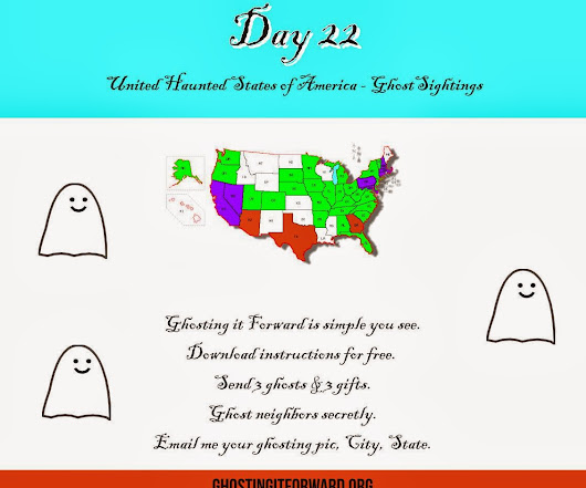 Ghosting it Forward in 39 States!
