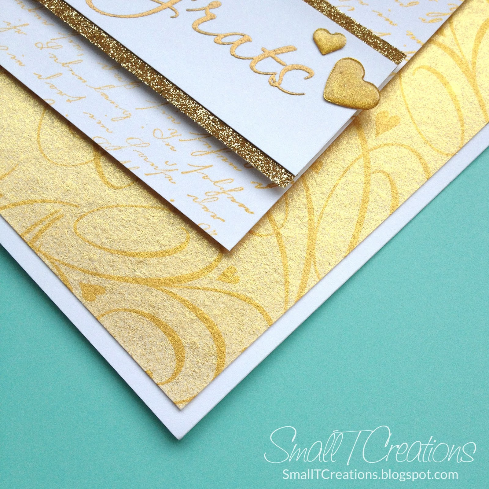 Gold Wedding Card | Small T Creations