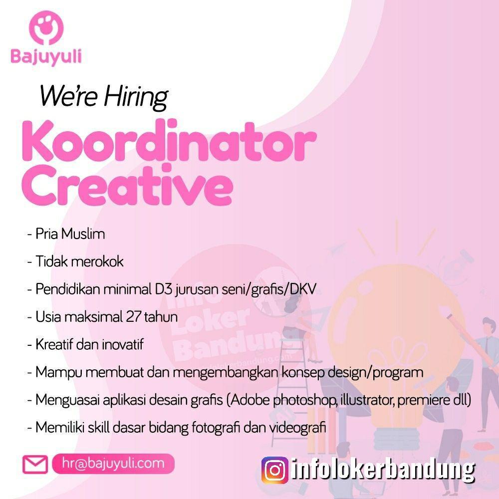 Lowongan Kerja Koordinator Creative Bajuyuli Bandung Agustus 2019