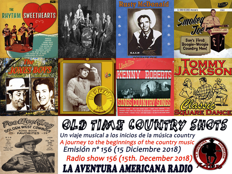 Alberto Basarte: Set-List - Old Time Country Shots – Programas 151 a 165