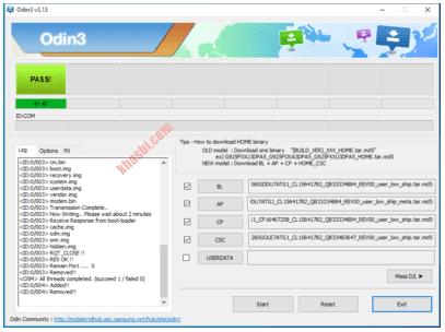 Menambahkan File Binary Samsung J4 Plus