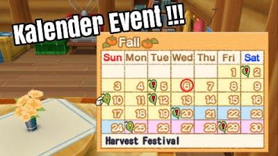 Kalender Event Harvest Moon: Hero of Leaf Valley
