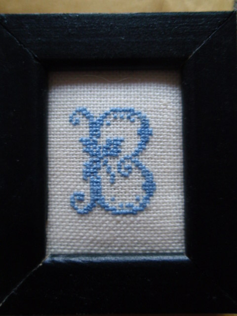 Beautiful hand stitched monogramme