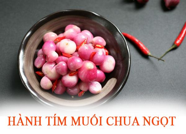 Hướng dẫn làm món Hành Tím muối chua ngọt
