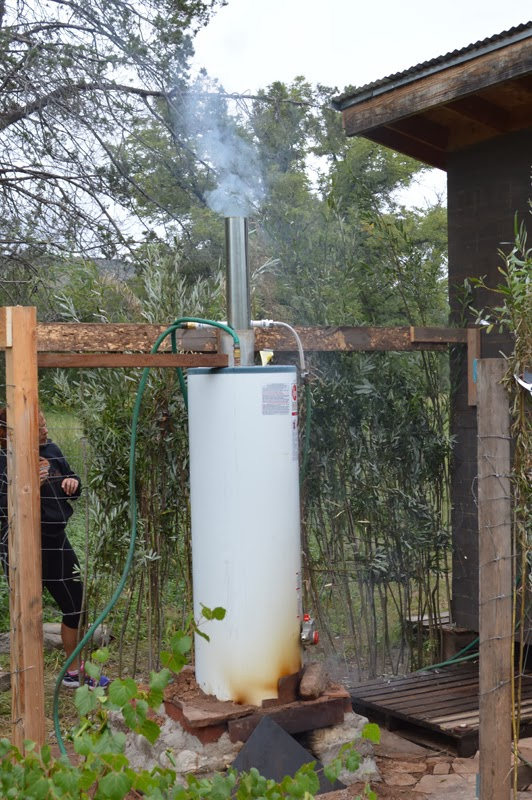 Our Life In The Wild How To Make A Wood Fired Outdoor Shower