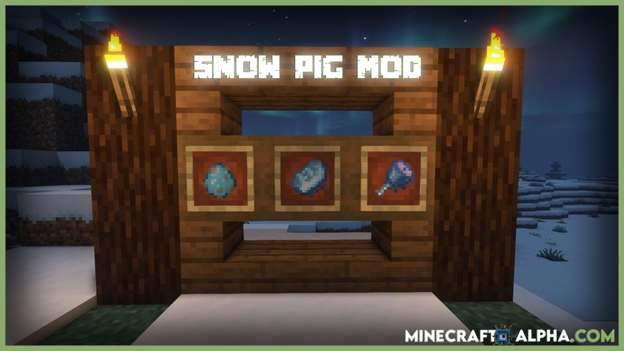 Minecraft Snow Pig Mod For 1.17.1 (Animal)