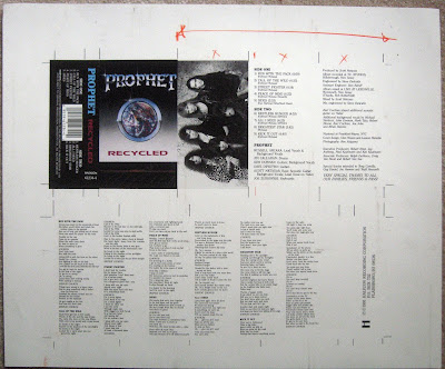 Pre-production cd artwork for 1991 Recycled album from Prophet