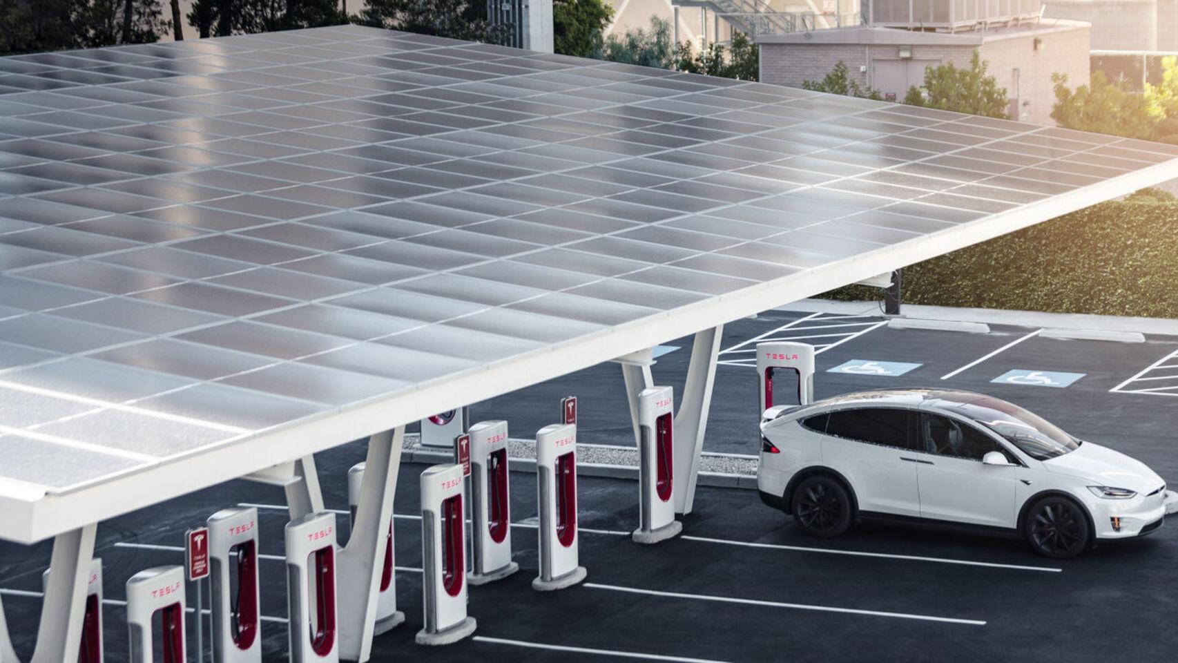 Supercharger Tesla sanghai