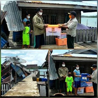 Lima buah Rumah ambruk di terjang Angin Puting Beliung di Desa Panaah