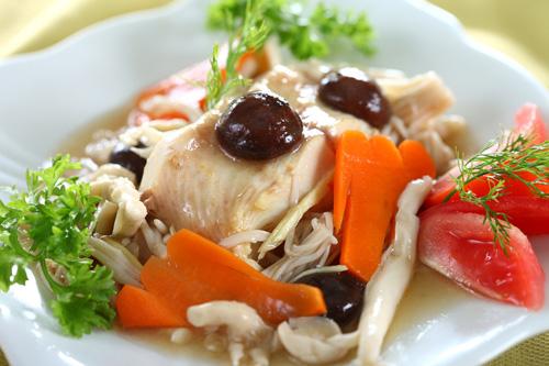 Món cá thu sốt rau củ
