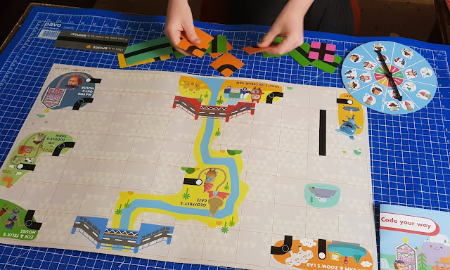 OKIDO Children's Coding Game Review how to play board set up