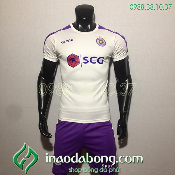 Áo bóng đá câu lạc bộ hà Nội màu trắng 2020