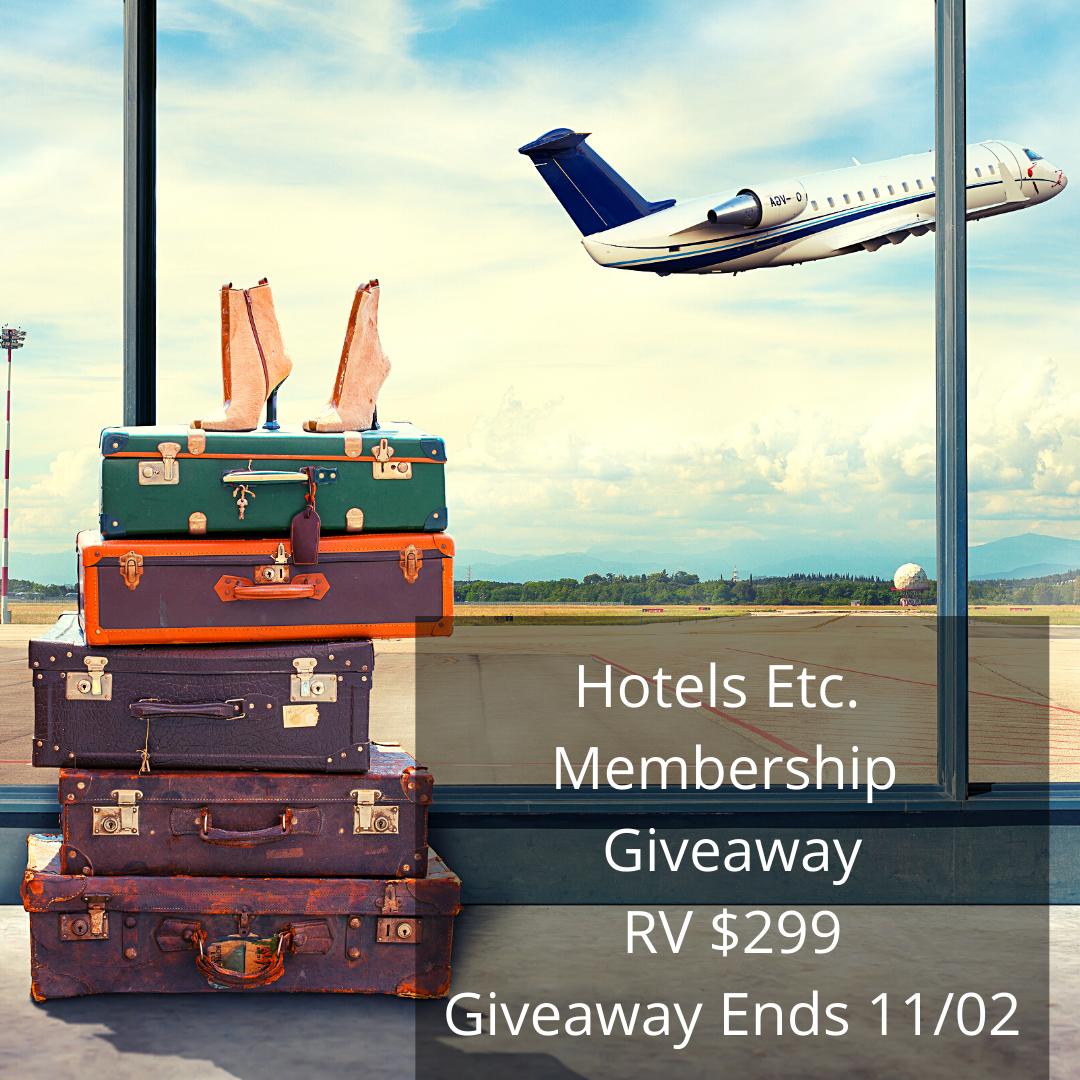 Hotel Etc. Membership Giveaway RV $299