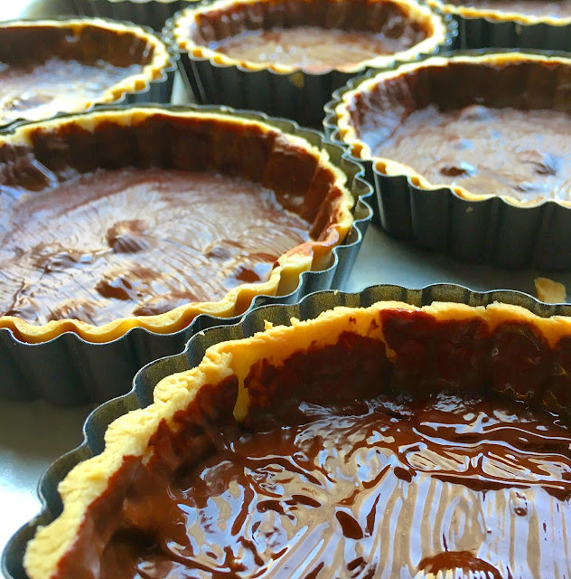Chocolate Lined Pate Sucree Tart Shells