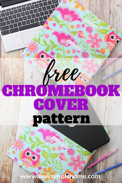 Sew your own simple diy laptop sleeve to protect that school Chromebook.