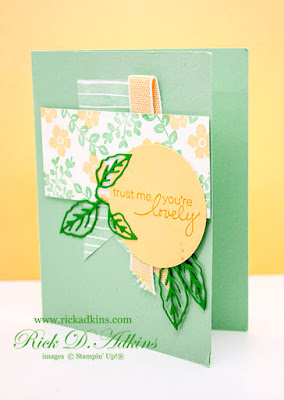 Check out this super cute Trust Me You're Lovely card using the Lovely You Stamp Set from Stampin' Up!
