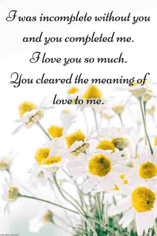 sweet love words for him with white flowers