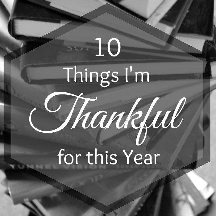 Journey Through Fiction Book Blog 10 Things I'm Thankful for this Year
