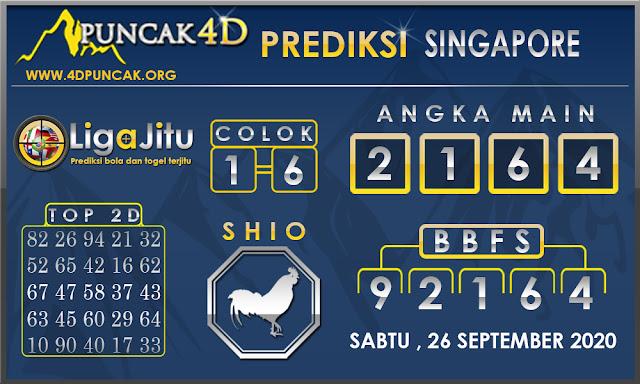 PREDIKSI TOGEL SINGAPORE PUNCAK4D 26 SEPTEMBER 2020