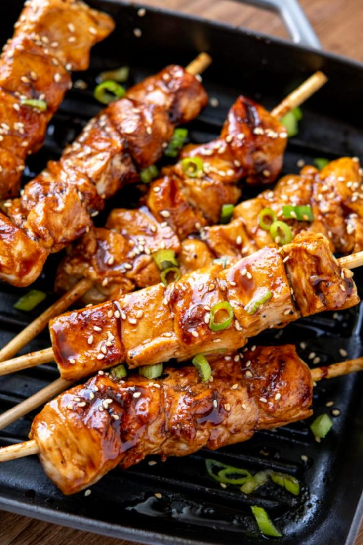 LOW SYN YAKITORI CHICKEN SKEWERS GRILL