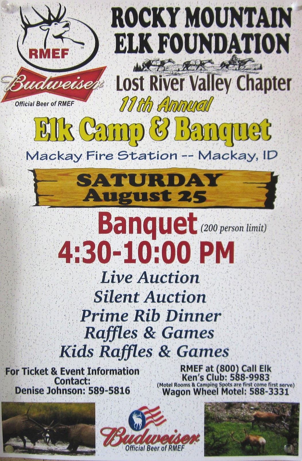 Mackay, Idaho 83251: Rocky Mountain Elk Foundation Banquet ...