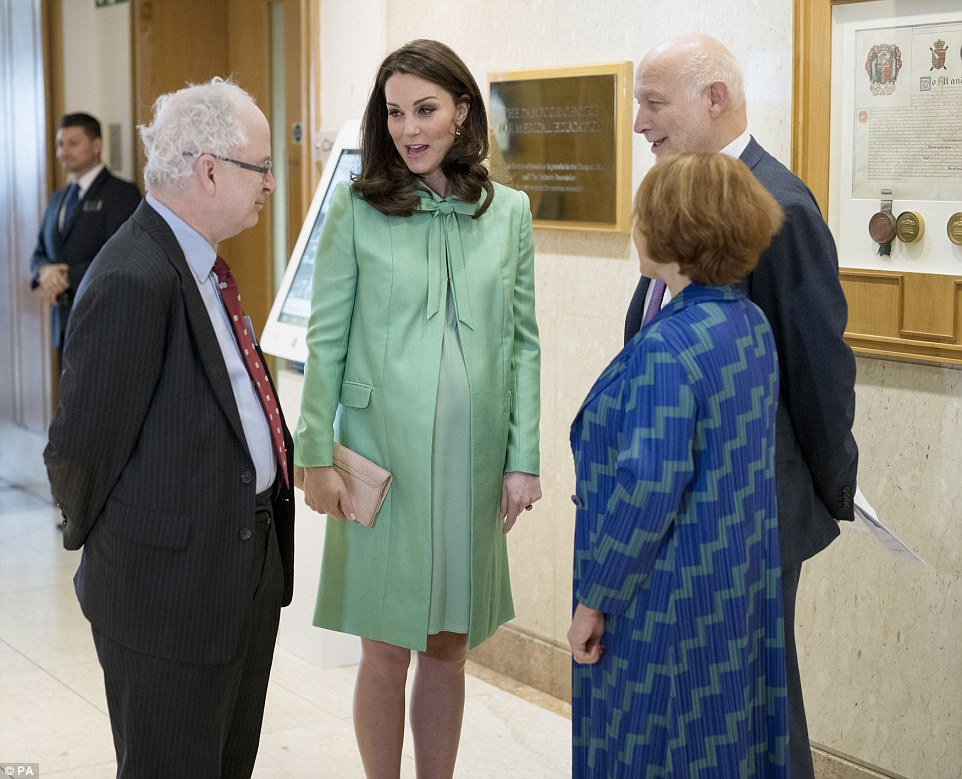 Pregnant Duchess is attending symposium at Royal Society of Medicine in London