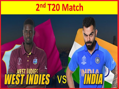 India vs west indies 2nd T20 match