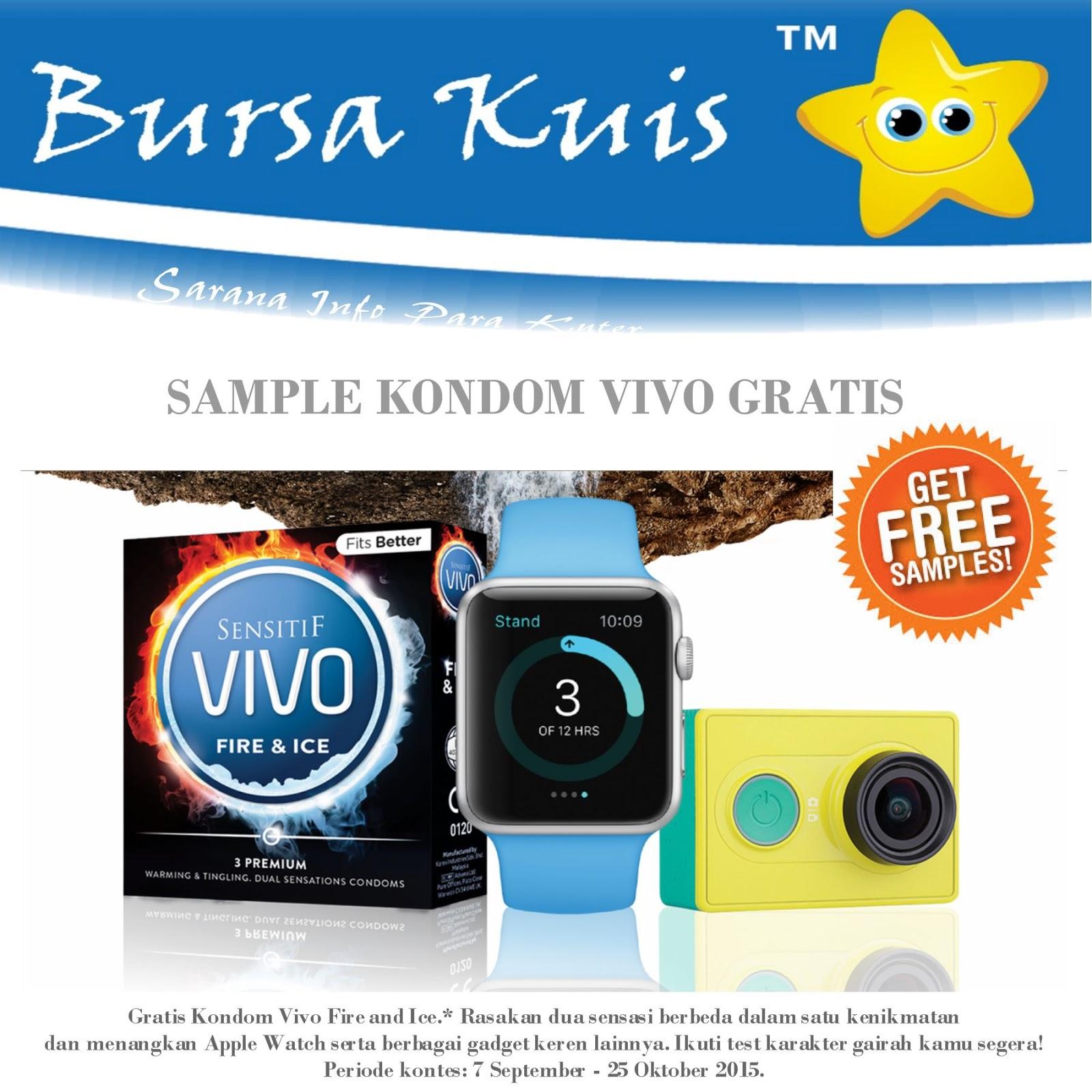 Sample Kondom Vivo Gratis Dan Berhadiah - BURSA KUIS ONLINE