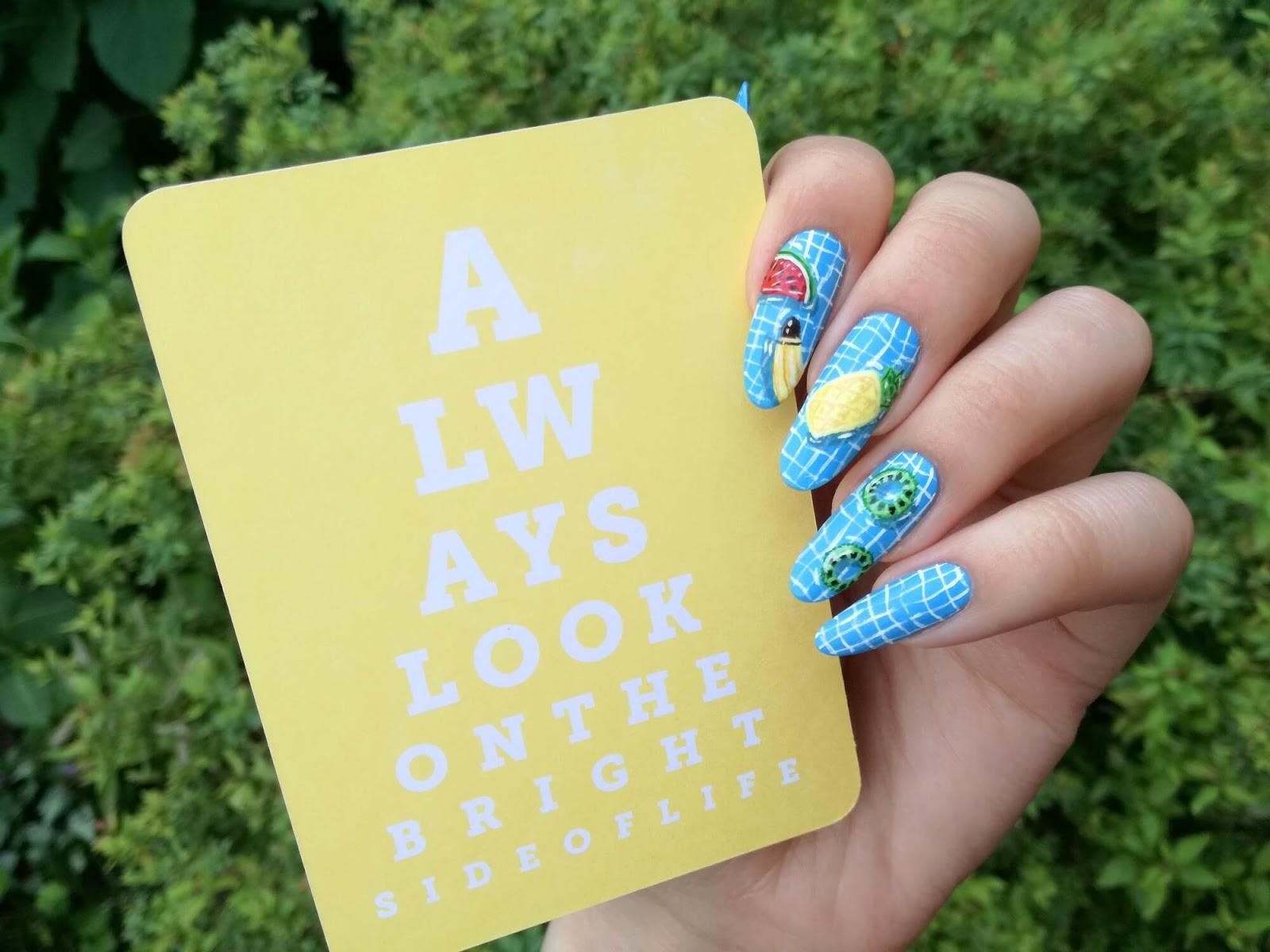 paznokcie i motywacyjny cytat