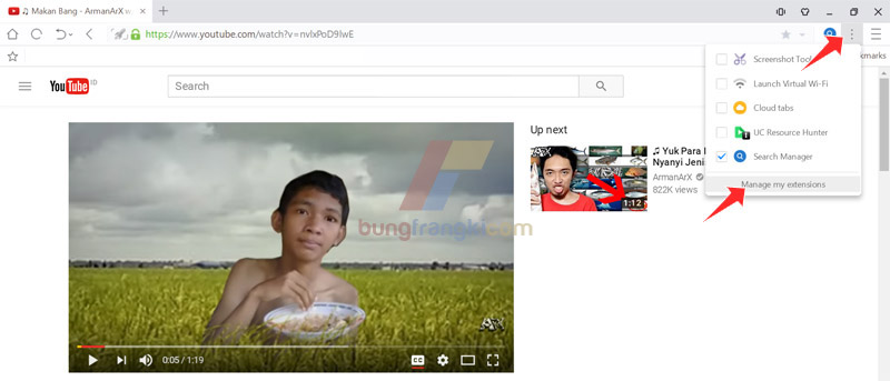 Mengatasi tombol IDM tidak muncul di Youtube pengguna UCBrowser