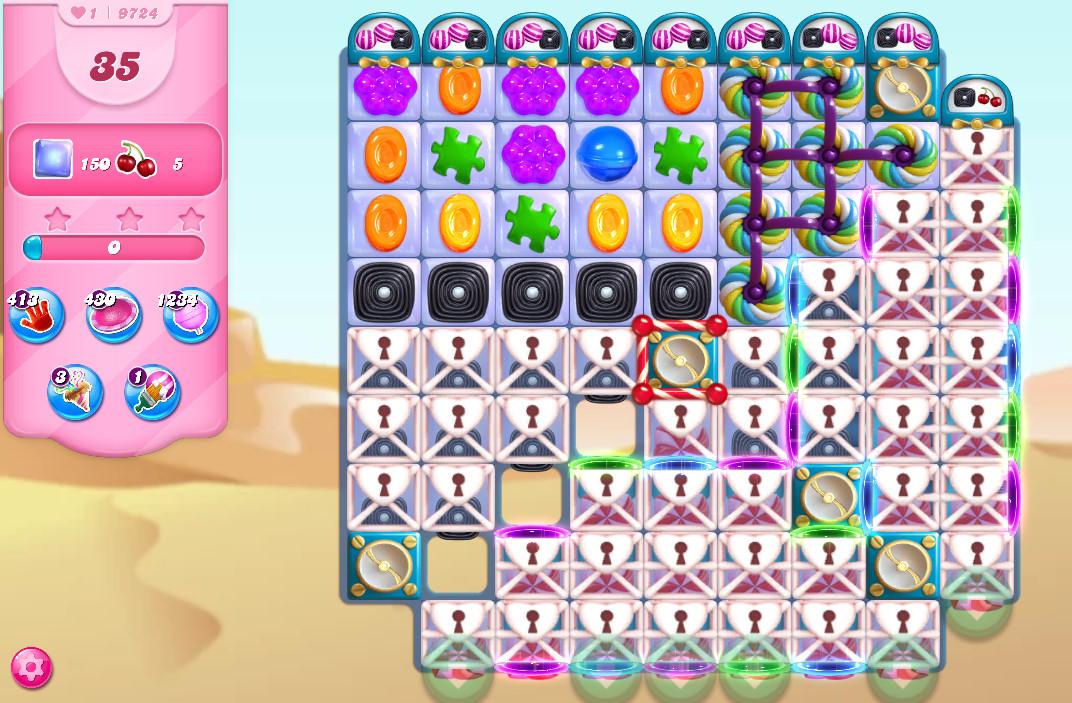 Candy Crush Saga level 9724