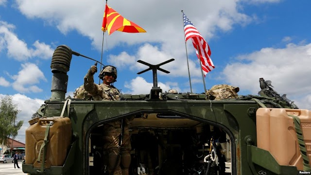 2nd Cavalry Regiment Soldiers host static display in Skopje, Macedonia