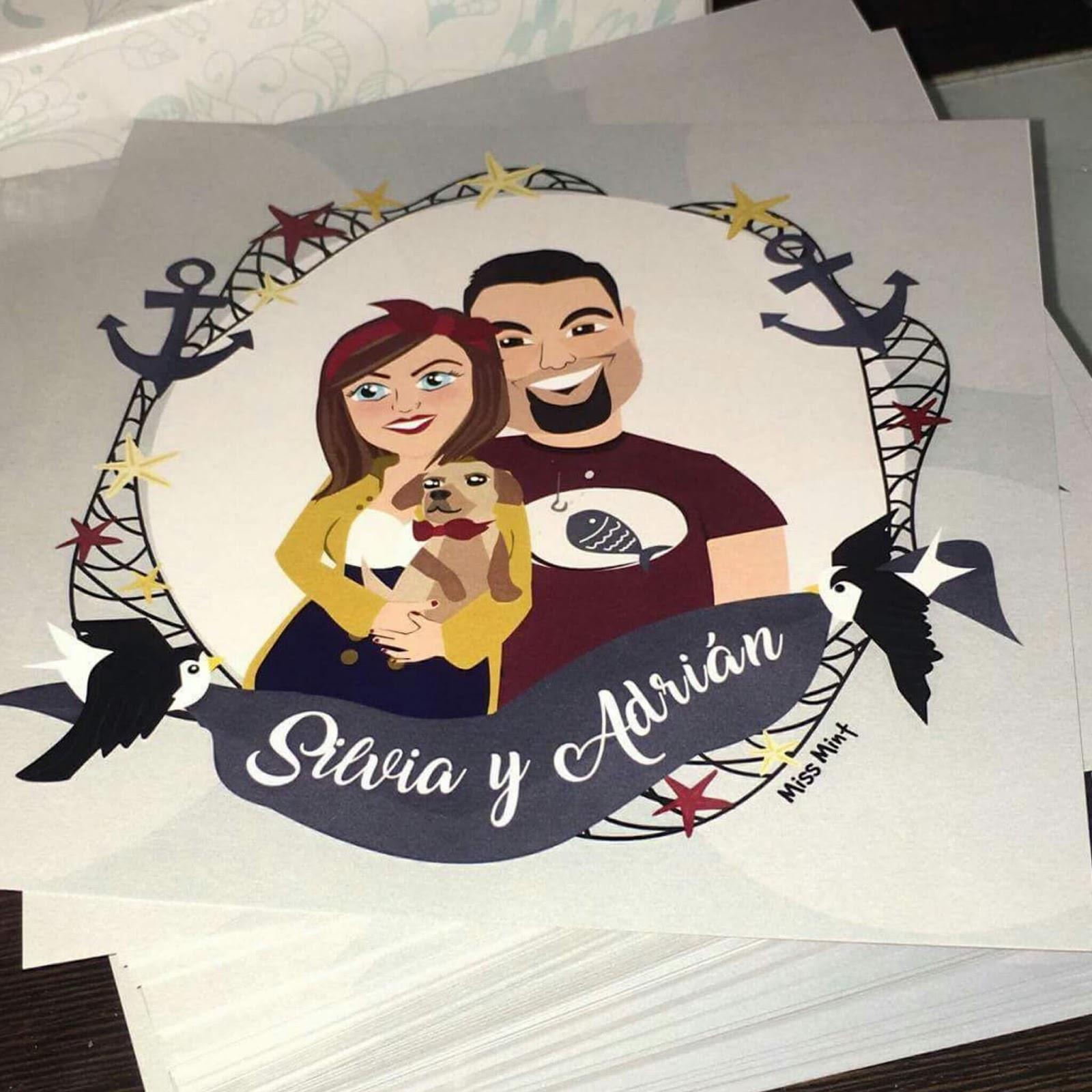 invitaciones de boda ilustradas
