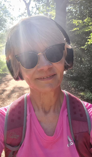 On a regular walk in Epping Forest: Gail Hanlon from style blog Is This Mutton