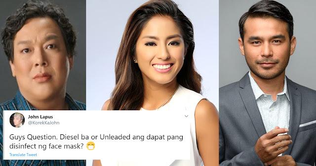 LOOK: Pinoy celebrities nag react sa Gaas pang disinfectant remark ni PRRD.